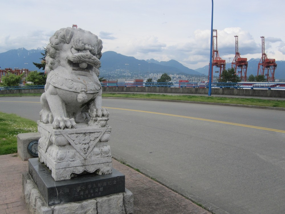 China statue in Vancouver