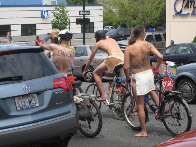 Naked bicycle ride bellingham