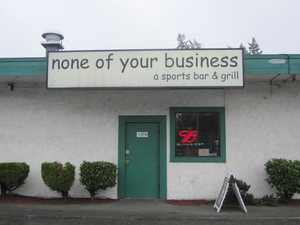 None of your business bar