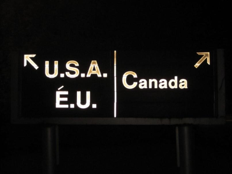USA Canada border