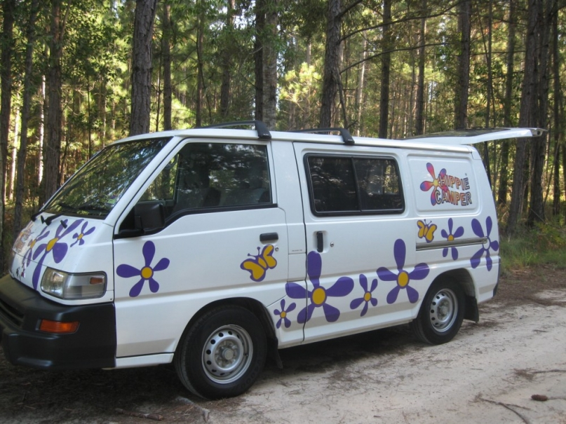 hippie camper rental car relocation