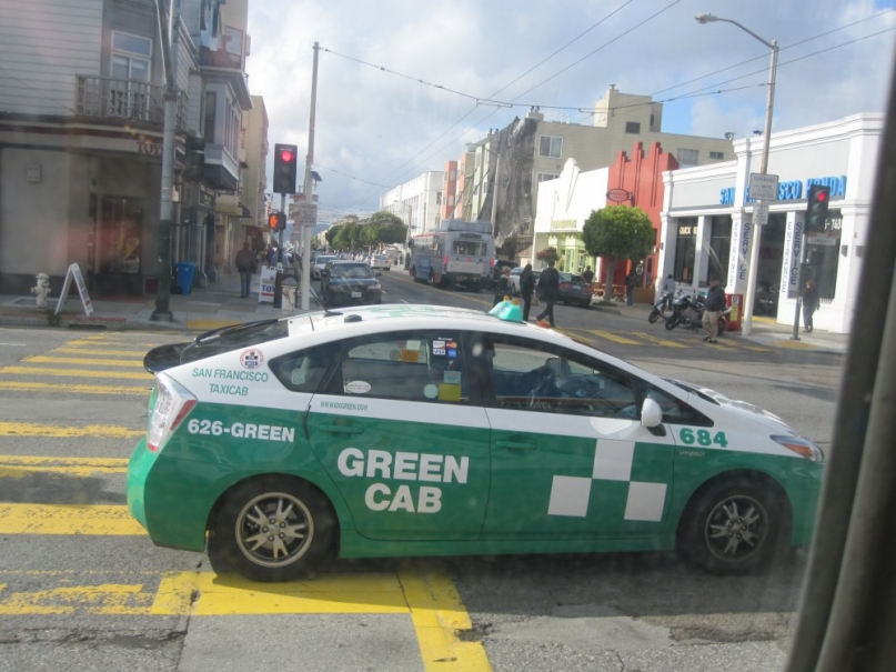 Green cab San Francisco
