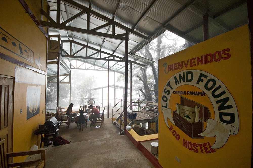 A view of the Lost and Found hostel in Panama