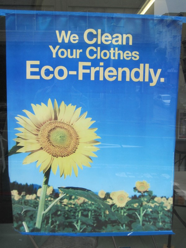 We clean clothes eco friendly San Francisco
