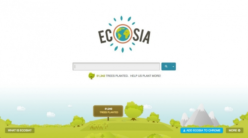 Ecosia website