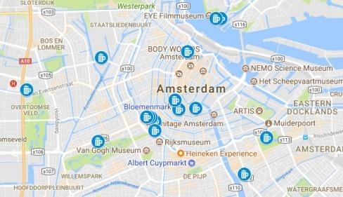 Amsterdam underground clubs map