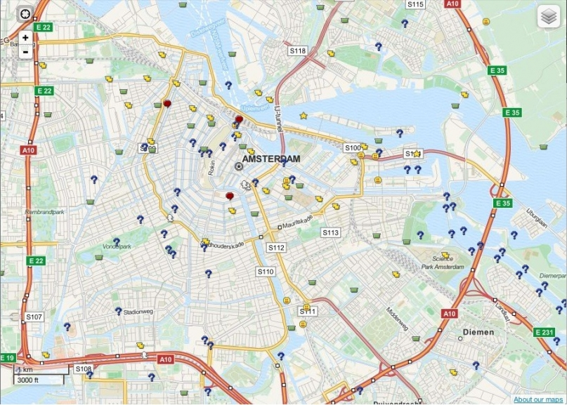 Geocaches in Amsterdam