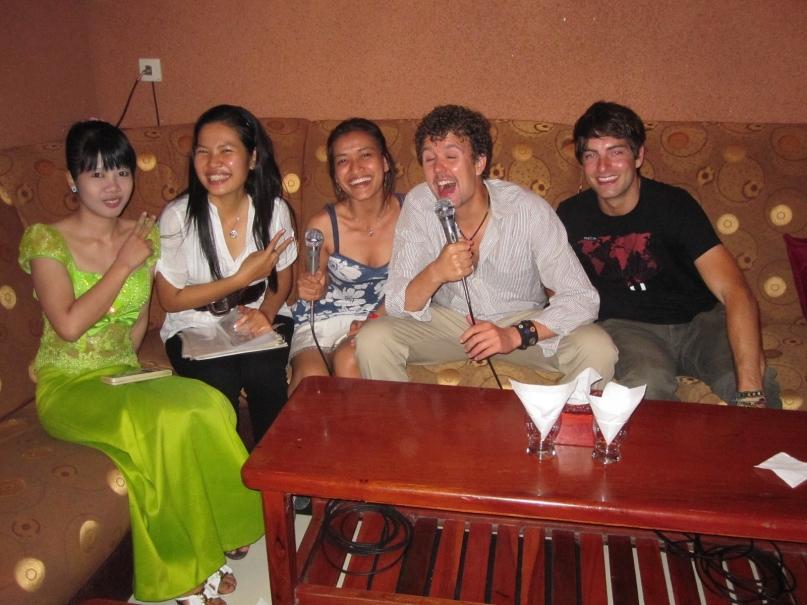 A karaoke bar in Cambodia
