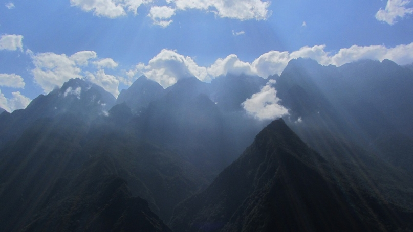 Tiger Leaping Gorge China sun rays
