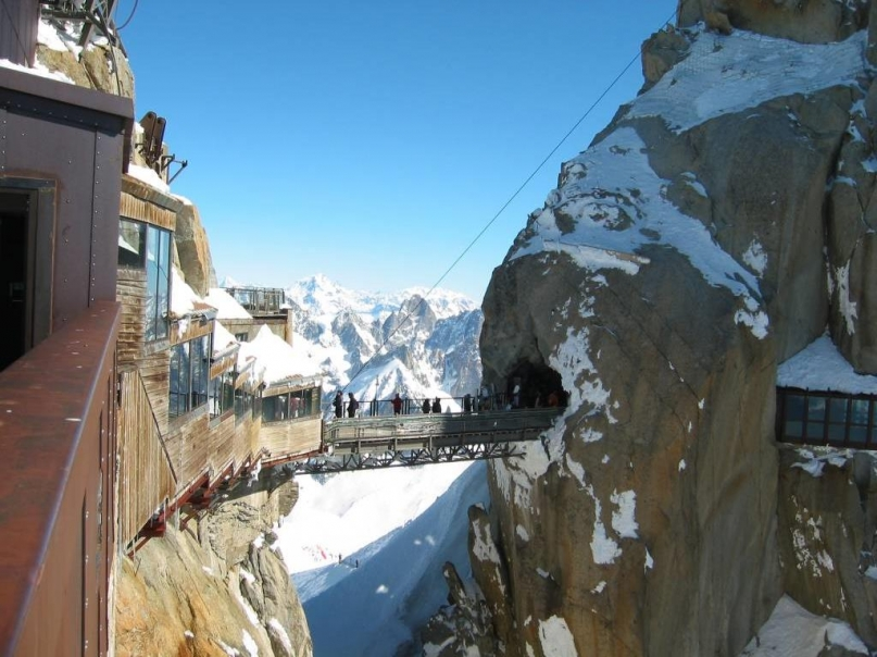 Aiguille du Midi Bridge Chamonix, France