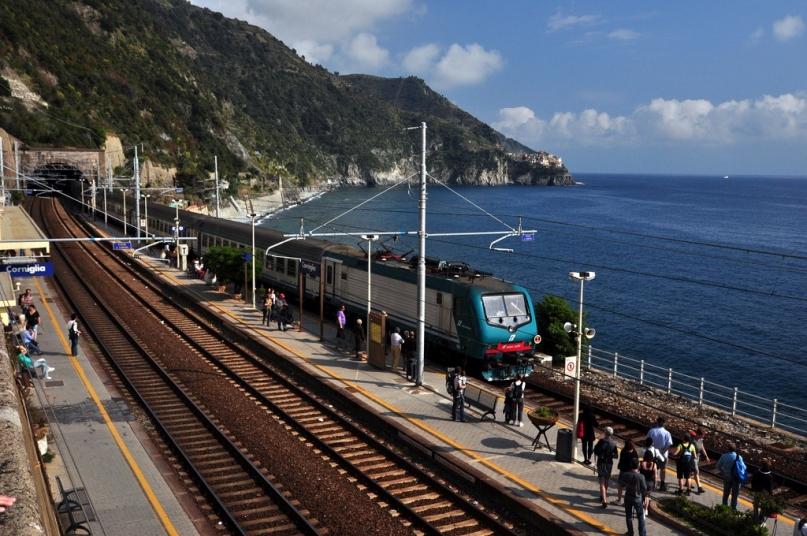 Corniglia station Italy