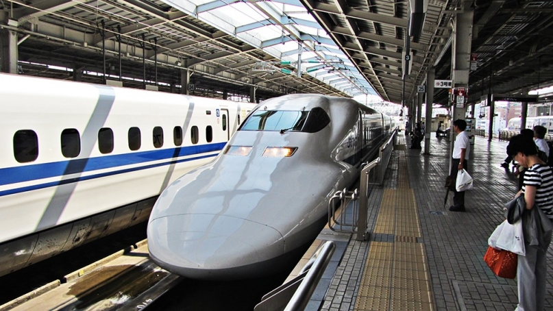 Shinkansen bullet train Japan