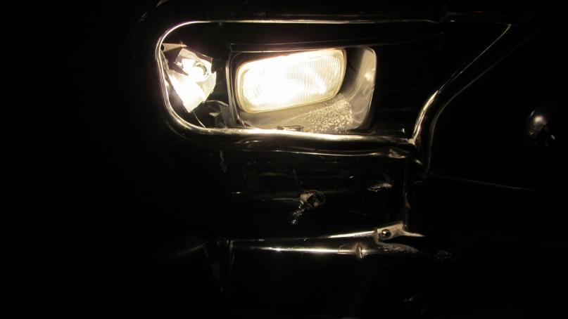 Broken headlight