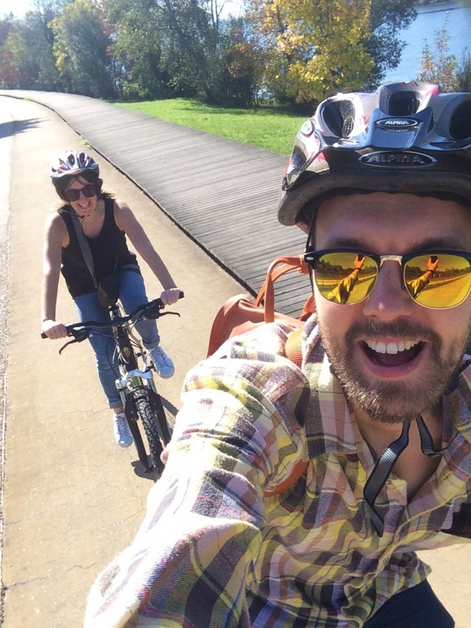 Victor Claire Bicycle Selfie