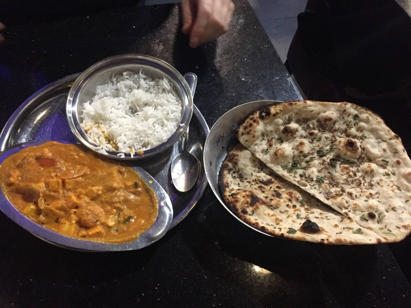 Saravanaa Bhavan Punjabi curry and kulcha
