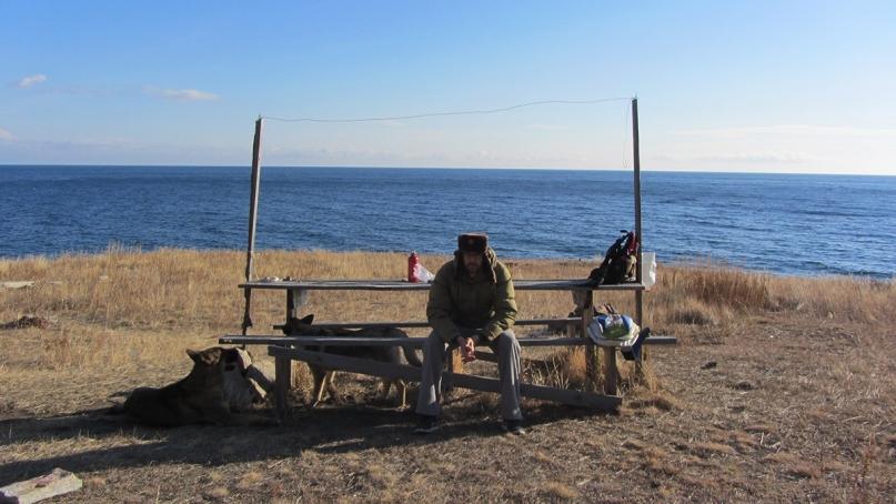 Olkhon Island hike bench