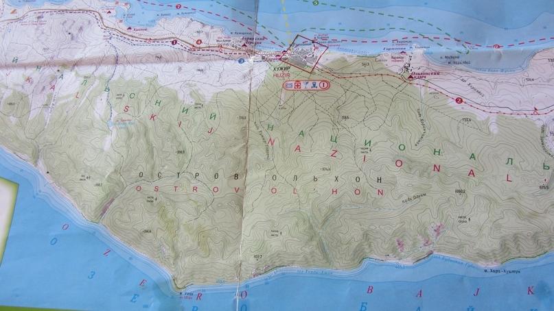 Lake baikal map