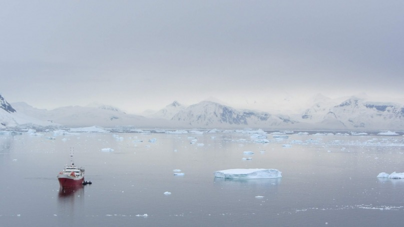 typical Antarctic landscape