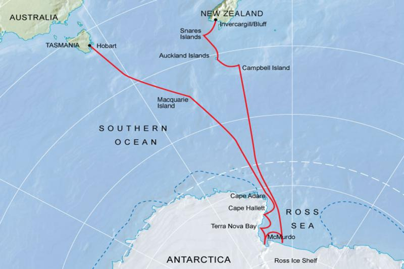 New Zealand to Antarctica