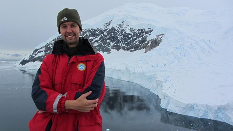 Victor in Antarctica