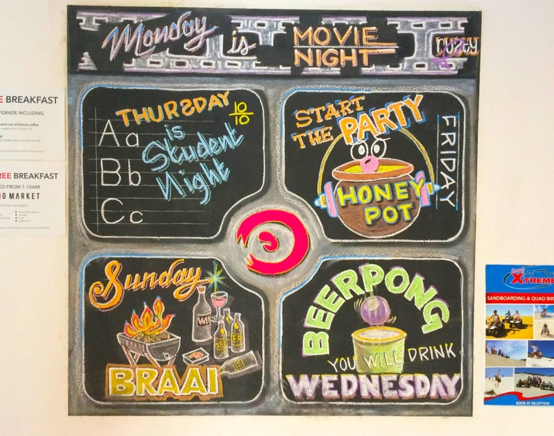 Weekly activities the 91 loop hostel