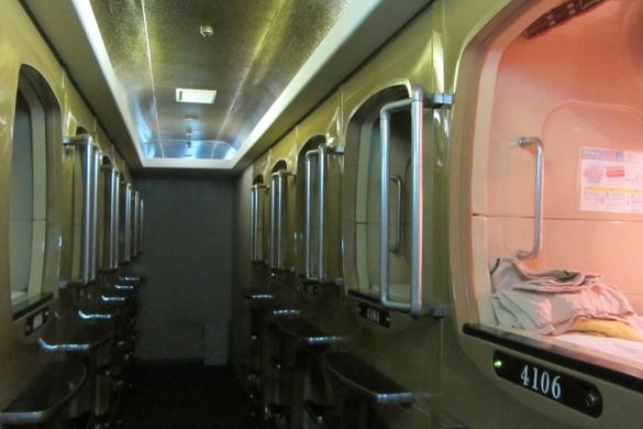 sleep pods Tokyo capsule hotel