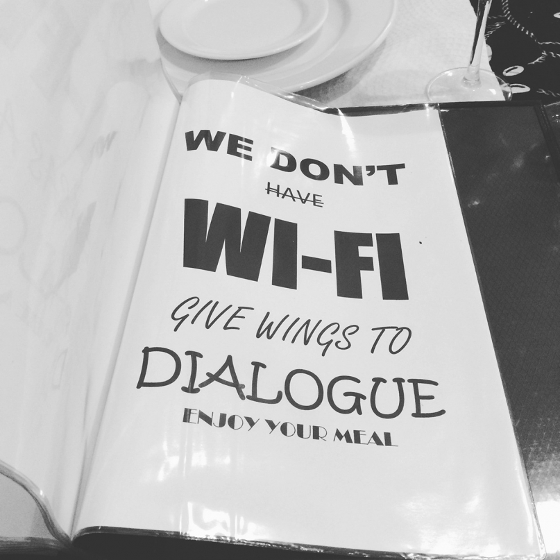 No wifi restaurant