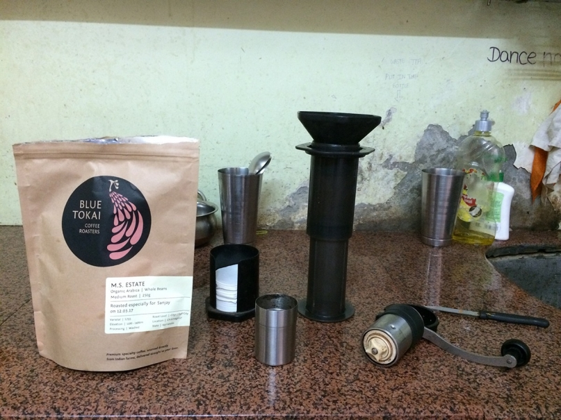 Jugaadus aeropress coffee maker