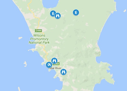 wilsons promontory national park map