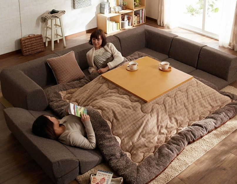 Japanese heating bed table called Kotatsu