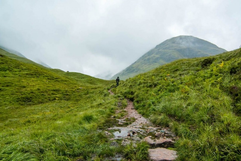 Hiking trail Glencoe, Scotland