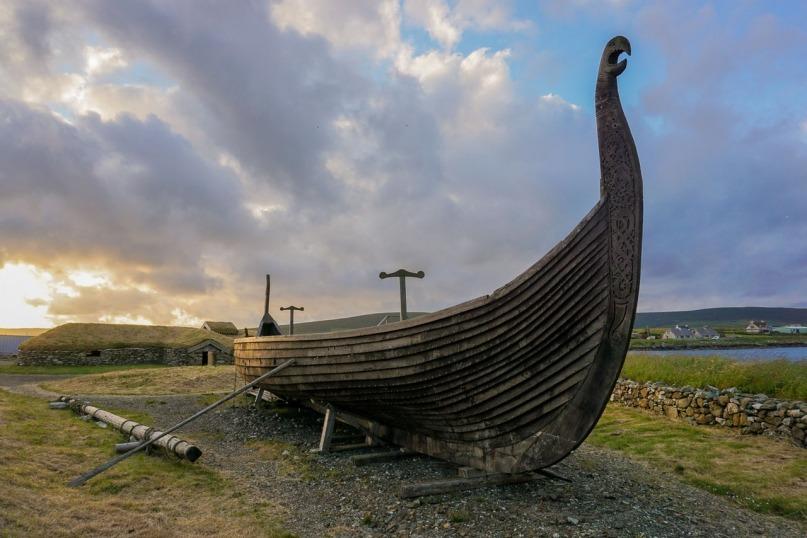Viking ship Unst Shetland