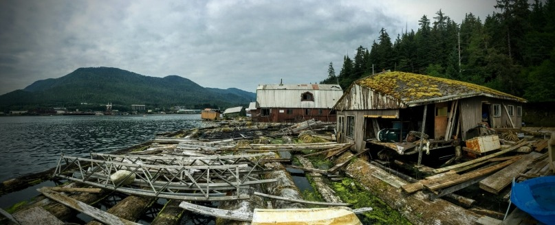 Helping a local guy rebuild a float camp in Alaska