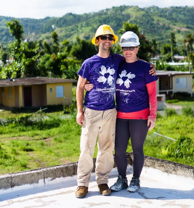 Volunteering in disaster response in Haiti and Puerto Rico
